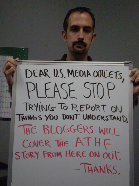 ATHF US Media Needs To Let The Bloggers Handle It